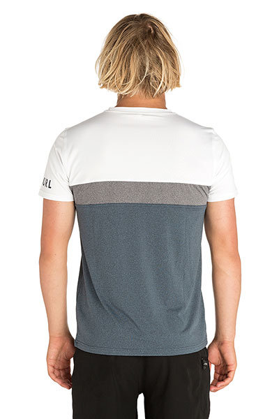 Футболка Rip Curl Underline Panel S/Sl Uvt White/Navy